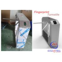 Quality Automatically Tripod Turnstile Gate , Rotary drop arm barrier Fingerprint Recognition Controlled for sale