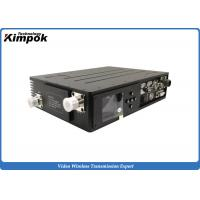 Army Video and Data COFDM Transmitter for Command Control , 10W Digital Wireless Transmission System