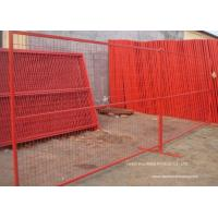 Quality PVC Coated Temporary Construction Fence Canada Standard 10x6 FT Event Movable Fence for sale