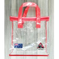 Buy cheap Zippered Clear PVC Household Storage Bags Portable Transparent Shopping Bag With Handles from wholesalers