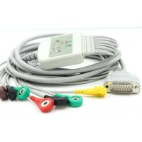 Buy cheap 10-Leads EKG Cable with Leadwires AHA/IEC Snap Type compatible for Nihon/Biocare from wholesalers