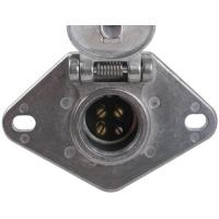 Quality Metal Trailer Electrical Socket , 4 Pin Trailer Connector With Lid for sale