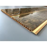 Buy 7mm Thickness Ceiling PVC Panels With Two Golden Lines Non Flammable Features  at wholesale prices
