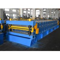 China Color Steel / Galvanized Steel Roofing Sheet Roll Forming Machine With Double Layer Design for sale