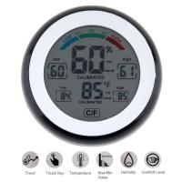 Buy cheap SN226 LCD Digital Multifunctional Touch Thermometer Support Humidity Measurement with Magnets Hanging Hole and Bracket from wholesalers