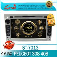 Quality Radio / Bluetooth / IPOD Peugeot DVD GPS , Car Media Player For Peugeot 308 / 408 ST-7013 for sale