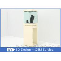 Buy Modern Black Wooden Glass Jewelry Tower Display Cases For Window Display at wholesale prices