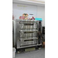Quality 3 Deck 12 Trays Electric Oven For Baking , Big Glass Door Gas / Electric Deck Pizza Oven for sale