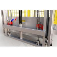 Quality 3 - 6m/Min Electric Material Lift , 2m Lift Height Hydraulic Warehouse Goods Lift for sale
