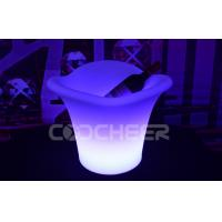 China Waterproof Outdoor PE Plastic Led Lighted Ice Bucket Glowing Champagne Ice Bucket on sale