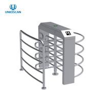 Quality Half Height Security Turnstile Gate Single Lane RFID Card Reader 35 Persons / Min for sale