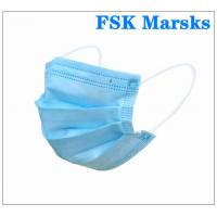 Quality Anti Spray 3 Ply Surgical Face Mask With Melt Blown Cloth , EN14683 Type I for sale