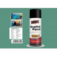 Quality Apple Green Color Graffiti Spray Paint 400ml Filled With MSDS Certificate for sale