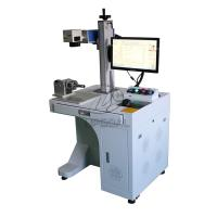 Quality 30W Coffee Spoon/Bearing/Aluminum Nameplate/Stainless Steel Cylinder Laser Marking Machine for sale