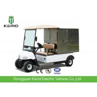 Quality 2 Seats Small Cargo Vehicle Electric Golf Cart With Stainless Steel Container For Hotel for sale