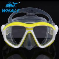 Quality Detachable Ornamental Pieces Liquid Silicone Diving Mask Double-skirt and Strap for sale