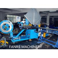 Quality Auto Duct Line Stainless Steel Flexible Spiral Cutting Machine Fully Auto Material Feeding for sale