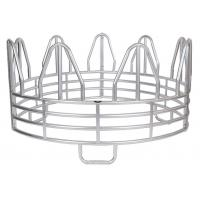 Quality SUPER DUTY 4-RING HORSE GALVANIZED ROUND BALE FEEDER for sale