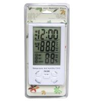 China TA308 Digital LCD Temperature Humidity Meter with Clock Household Thermometer for sale
