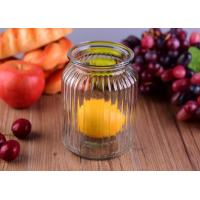 Quality Empty Bright Clear Glass Jars / Decorative Wide Mouth Glass Jars Large Capacity for sale