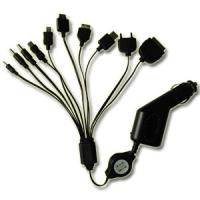 Quality Mini 10 in 1 Dual USB Car Charger With DC Plug For Iphone / Pad / Samsung S3 S4 for sale