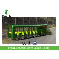 Quality 42 Seats Electric Trackless Train , Electric Tourist Train For Outside Recreation for sale