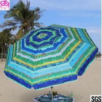 Quality Windproof Sunshade Parasol Beach Umbrella Custom Size 2.4m / 2.5m for sale