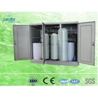 China Compact 100l Cabinet Water Softener Resin Replacement Water Treatment Process on sale