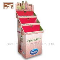 Quality Paperboard Trapezoid Cardboard Floor Display , POP Display Stand for sale