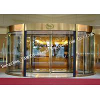 China Modern Electrical Revoling Glass Facade Doors For Hotel Or Shopping Mall Lobby on sale