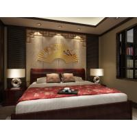 Quality Embossed Surface Bamboo Fiber 3D Leather Wall Panels For Bedroom Decoration for sale