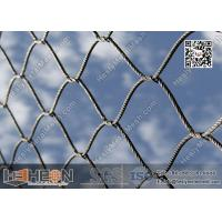 Buy cheap 316L Stainless Steel Cross Knotted Wire Rope Mesh Netting | China Factory Direct from wholesalers