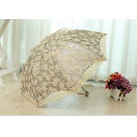 Buy 3 Fold Strong Windproof Folding Umbrella Sun Parasol Umbrella With Beautiful at wholesale prices