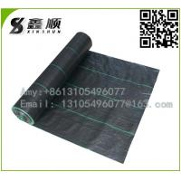 Buy best quality pp anti UV weed mat woven ground cover geotextile black plastic weed barrier at wholesale prices