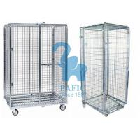 Quality 5pcs Wire Mesh Enclosures Delivery Roll Cages Power Coated Surface for sale