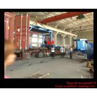 Quality Eco-friendly High Speed H Beam Shot Blasting Machine With Rubber Curtain / CE Approved for sale