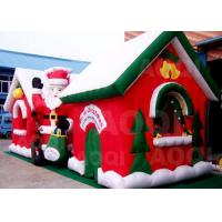 Buy cheap Cuatomized Merry Christmas Inflatable Santa Claus Bouncy Castle For Xmas from wholesalers