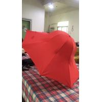 Quality Special Shape Cap Red Large Collapsible Umbrella With Black Steel Frame for sale