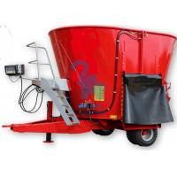Buy Red Cow Feed Mixer Rotation Machine , High Speed Small Feed Mixer Equipment at wholesale prices