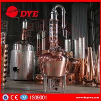 Quality 300 Copper Alcohol Distiller Distillation Equipment for whiskey brandy for sale
