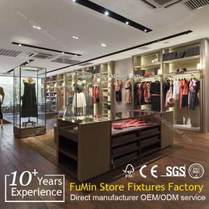 Buy Outdoor clothes store wood nakajima display shelf / wood display rack at wholesale prices
