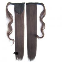 Quality Soft Bond Long Synthetic Heat Resistant Hair ExtensionsSilky Straight 20 Inch for sale