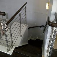 Quality Decorative wrought iron railings with solid rod bar design for sale