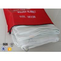 Buy White Fiberglass Kitchen Fiber Glass Fabric Industrial Emergency Fire Blanket at wholesale prices