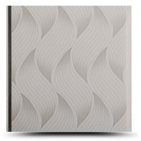 Quality Wave Printed Pvc Bathroom Wall Panels , Waterproof Panel Board For Bathroom for sale