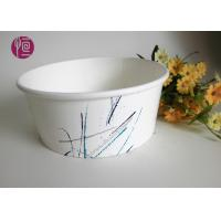 China 32oz PE Coated Food Grade Paper Salad Bowls With Plastic Cover / Single Wall on sale