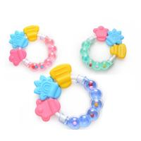 Quality Food Grade Soft Silicone Baby Teether Chew Rattle Toy for sale