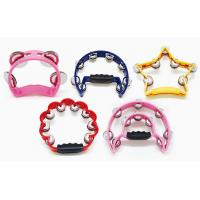 Quality Plastic bell Toy Music Instrument Orff Instruments Colorful Tambourine Music Toy Gift for sale