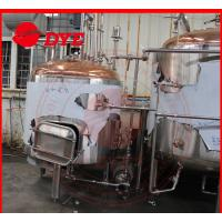Quality Red Copper Commercial Beer Brewing Systems With Mash Kettle Tun for sale