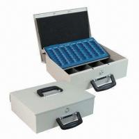 Quality Transportation Cash Boxes, Made of 1mm Cold-rolled Steel Sheet, Measures 358 x 275 x 103mm for sale
